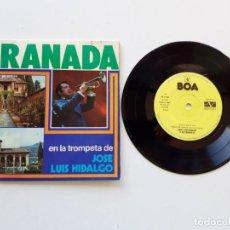 Discos de vinilo: GRANADA, EN LA TROMPETA DE JOSÉ LUIS HIDALGO. Lote 179180527