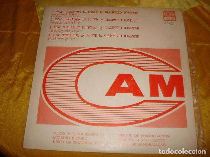 GIAMPIERO BONESCHI. NEW SOUNDS OF THE WEST. CAM, 1973. EDT. ITALIA. IMPEC. (#) (Música - Discos - LP Vinilo - Electrónica, Avantgarde y Experimental)