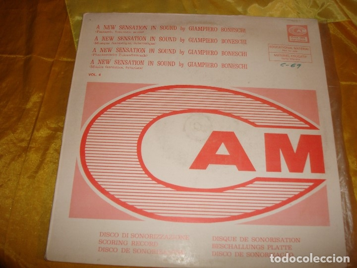 GIAMPIERO BONESCHI. FANTASTIC, FUTURISTIC MUSIC. CAM, 1973. EDT. ITALIA. IMPEC. (#) (Música - Discos - LP Vinilo - Electrónica, Avantgarde y Experimental)