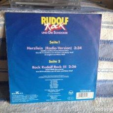 Discos de vinilo: RUDOLF ROCK UND DIE SCHOCKER* – HERZILEIN (2 TRACKS) SINGLE VINYL 1990 GERMANY. Lote 179189048