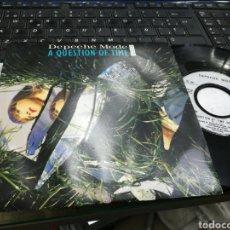 Discos de vinilo: DEPECHE MODE SINGLE A QUESTION OF TIME REMIX FRANCIA 1986. Lote 179190126