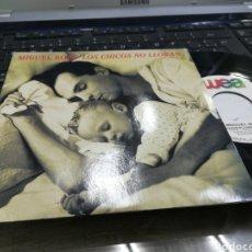 Discos de vinilo: MIGUEL BOSE SINGLE LOS CHICOS NO LLORAN FRANCIA 1990 RAREZA. Lote 179191197