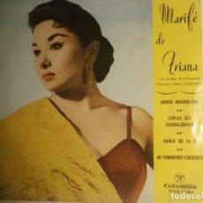 Discos de vinilo: MARIFE DE TRIANA-MARIA MAGDALENA-MARIA DE LA O-ORIGINAL AÑO 1961. Lote 179192433