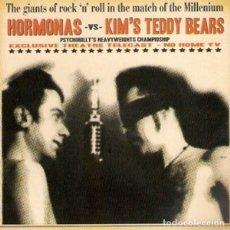 Discos de vinilo: HORMONAS VS KIM'S TEDDY BEARS THE GIANTS OF ROCK & ROLL (10 PULGADAS) . PSYCHOBILLY. Lote 179197082