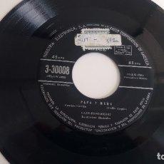 Discos de vinilo: SINGLE ( VINILO) DE GABY FOFO Y MILIKI AÑOS 50. Lote 179198972
