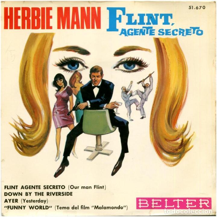 HERBIEN MANN - FLINT AGENTE SECRETO (OUR MAN FLINT) - EP SPAIN 1966 - BELTER 51.670 - BEATLES (Música - Discos de Vinilo - EPs - Bandas Sonoras y Actores)