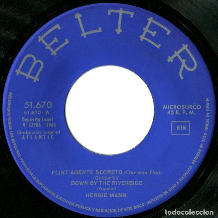 Discos de vinilo: Herbien Mann - Flint Agente Secreto (Our Man Flint) - Ep Spain 1966 - Belter 51.670 - Beatles - Foto 3 - 179203203