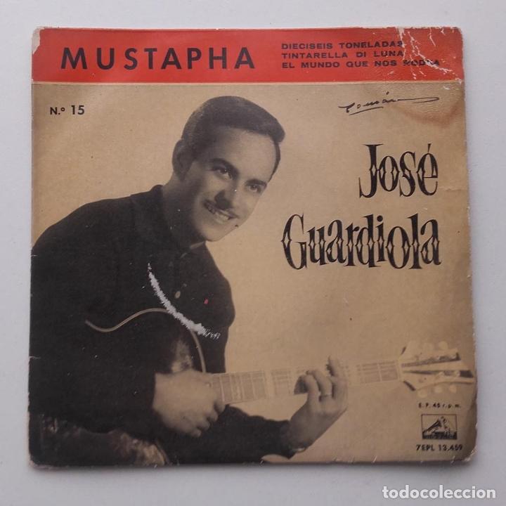 1960, JOSE GUARDIOLA, MUSTAPHA, DISCO AZUL (Música - Discos de Vinilo - EPs - Solistas Españoles de los 50 y 60)