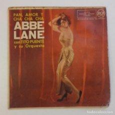 Discos de vinilo: 1958, ABBE LANE CON TITO PUENTE Y SU ORQUESTA, PAN, AMOR Y CHA CHA CHA, RCA. Lote 179212878