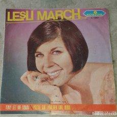 Discos de vinilo: LESLI MARCH: TONY LET ME DOWN / YOU'VE GOT ANOTHER GIRL NOW (SESIÓN 1966). Lote 179213878