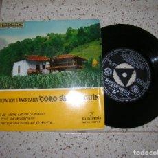 Discos de vinilo: DISCO EP ,CORO SANTIAGUIN ,AGRUPACION LANGREANA 4 CANCIONES AÑO 1958. Lote 179214468