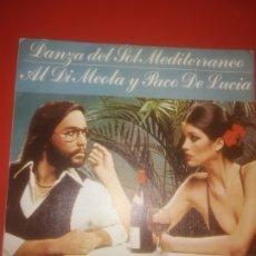 Discos de vinilo: AL DIMEOLA Y PACO DE LUCIA - DANZA DEL SOL MEDITERRÁNEO. Lote 179217215