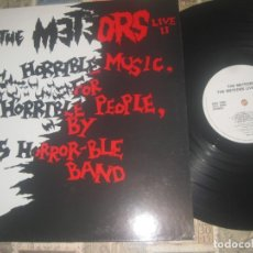 Discos de vinilo: THE METEORS LIVE II HORRIBLE MUSIC FOR HORRIBLE PEOPLE (DOJO -1986) OG ENGLAND EXCELENTE CONDICION. Lote 179225078