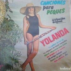 Discos de vinilo: YOLANDA VENTURA - CANCIONES PARA PEQUES (OLYMPO, 1978) PRE- FICHA AMARILLA DE PARCHÍS - RARO. Lote 179231988