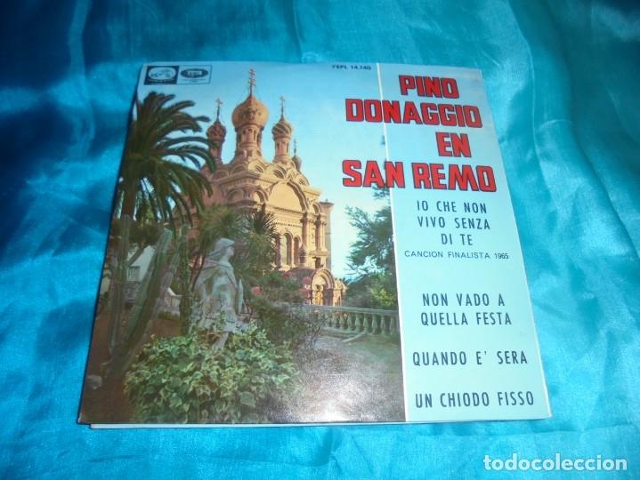 PINO DONAGGIO EN SAN REMO. IO CHE NON VIVO SENZA DI TE + 3. EP. LA VOZ DE SU AMO, 1965. IMPECAB (#) (Música - Discos de Vinilo - EPs - Otros Festivales de la Canción)