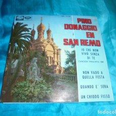 Discos de vinilo: PINO DONAGGIO EN SAN REMO. IO CHE NON VIVO SENZA DI TE + 3. EP. LA VOZ DE SU AMO, 1965. IMPECAB (#). Lote 179232141