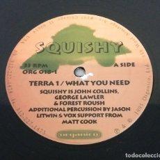 Discos de vinilo: SQUISHY / TERRA 1 / WHAT YOU NEED / MAXI-SINGLE 12 INCH. Lote 179232322