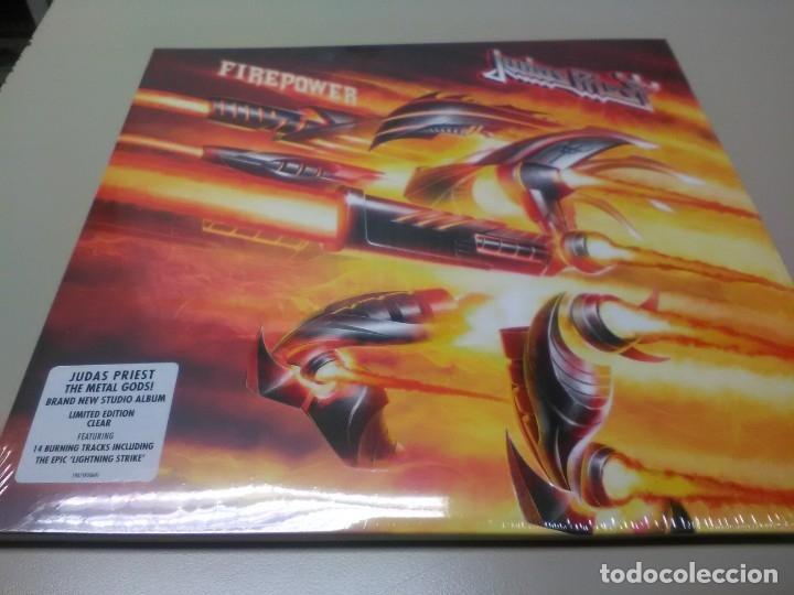 JUDAS PRIEST - 2 LP - FIREPOWER - VINILO TRANSPARENTE - EDICION LIMITADA 500 COPIAS - PRECINTADO (Música - Discos - LP Vinilo - Heavy - Metal)