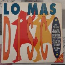 Discos de vinilo: LO MAS DISCO.LP DOBLE. ARIOLA. ESPAÑA 1990. Lote 179245793