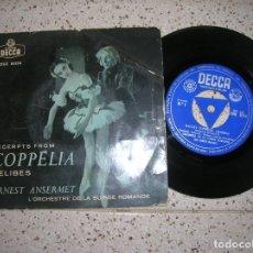 Discos de vinilo: DISCO BALLET COPELIA ORQUESTA DE LA SUISSE ROMANDE. Lote 179250146
