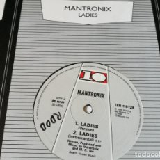 Discos de vinilo: MANTRONIX - LADIES - 1986. Lote 179253520