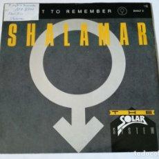 Discos de vinilo: SHALAMAR - A NIGHT TO REMEMBER - 1987. Lote 179253647