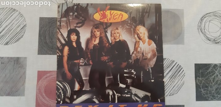 LP VIXEN. REV IT UP. EMI. 1990. ESPAÑA. (Música - Discos - LP Vinilo - Pop - Rock Extranjero de los 90 a la actualidad)