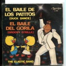 Discos de vinilo: THE ELASTIC BAND. EL BAILE DE LOS PATITOS. BAILE DEL GORILA.OLYMPO 1982. Lote 179309601