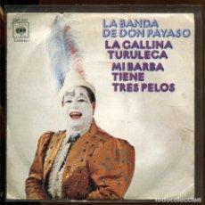 Discos de vinilo: LA BANDA DE DON PAYASO. LA GALLINA TURULECA. CBS 1973 SP. Lote 179310078