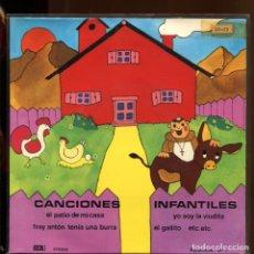 Discos de vinilo: CANCIONES INFANTILES. EL PATIO DE MI CASA, YO SOY LA VIUDITA, ETC. EDA 1977 EP PERFECTO. Lote 179310282