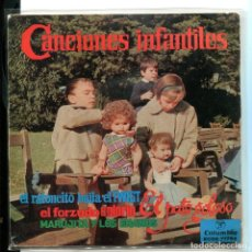 Discos de vinilo: CANCIONES INFANTILES. RATONCITO BAILA. PATO GOLOSO, ETC.. COLUMBIA 1962. MUY BUSCADO. PERFECTO. Lote 179310545