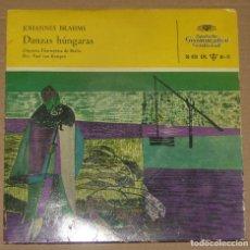 Discos de vinilo: BRAHMS - DANZAS HÚNGARAS - EP. Lote 179321477