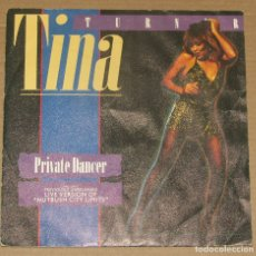Discos de vinilo: TINA TURNER - PRIVATE DANCER / NUTBUSCH CITY LIMITS - CAPITOL 1984. Lote 179321883
