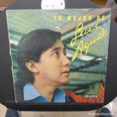 Discos de vinilo: LO MEJOR DE LUIS AGUILE. Lote 179323682