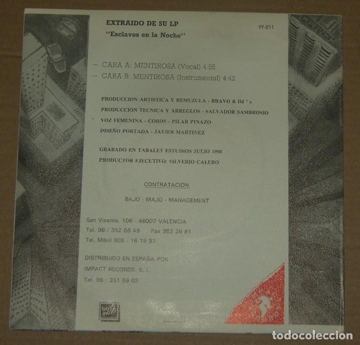 Discos de vinilo: BRAVO & DJ'S / MENTIROSA + VERSION INSTRUMENTAL (SINGLE PROMO 1990) - Foto 2 - 179325313