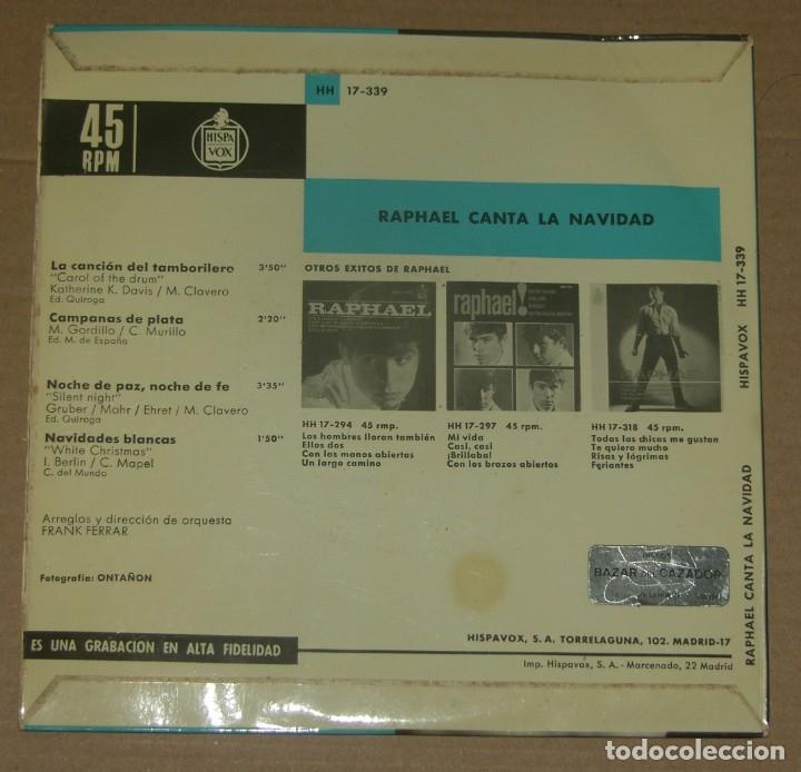 Discos de vinilo: RAPHAEL - CANTA LA NAVIDAD - HISPAVOX - 1965 - Foto 2 - 179326692