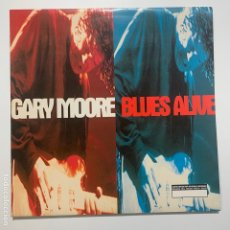 Discos de vinilo: DOBLE DISCO LP VINILO GATEFOLD GARY MOORE BLUES ALIVE PRIMERA EDICION EUROPEA DE 1993. Lote 179331737