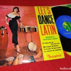 Discos de vinilo: TROPICANA JUAN MARTINEZ&ORQ.CHEDA EL RITMO DE MI/CHA CHA CHA/MERENGUE BRILLANTE/+2 7'' EP 1960 LATIN. Lote 179338322