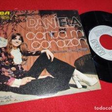 Discos de vinilo: DANIELA CANTA MI CORAZON/CAMPANAS DE CATEDRAL 7'' SINGLE 1974 RCA PROMO. Lote 179338662