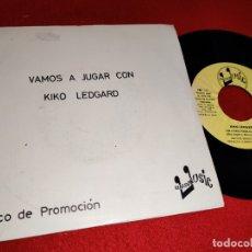 Discos de vinilo: KIKO LEDGARD CON LA NARIZ PEGADA AL CRISTAL/ME LLAMO KIKO LEGARD 7'' SINGLE 1976 EUROMUSIC PROMO. Lote 179338921