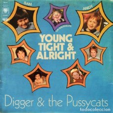 Discos de vinilo: DIGGER & THE PUSSYCATS YOUNG TIGHT & ALRIGHT LP . PUNK ROCK OBLIVIANS PUSSY GAL. Lote 179340158