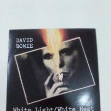 Discos de vinilo: DAVID BOWIE WHITE LIGHT WHITE HEAT / CRACKED ACTOR ( 1983 RCA UK ) EXCELENTE ESTADO EDICION ORIGINAL. Lote 179342196
