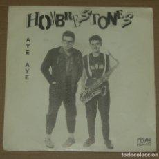 Discos de vinilo: HOMBRESTONES / AYE AYE (SINGLE PROMO 1990). Lote 179343728