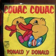 Discos de vinilo: COUAC COUAC. RONALD I DONALD.. ZAFIRO 1974. SP. Lote 179375390