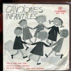 Discos de vinilo: CANCIONES INFANTILES. VAMOS A CONTAR MENTIRAS, ETC... COLUMBIA 1967. . Lote 179375758