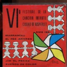 Discos de vinilo: VI FESTIVAL CANCION INFANTIL HOSPITALET. VICTORIA 1971. PERFECTO ESTADO. Lote 179375847
