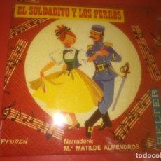 Discos de vinilo: MARIA MATILDE ALMENDROS - EL SOLDADITO Y LOS PERROS - BELTER 5.002. Lote 179381107