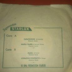 Discos de vinilo: SUPERVENTAS STARLUX - CASATSCHOK. MARIA ISABEL. MAMA. CORAZON CONTENTO. RARO. Lote 179381496