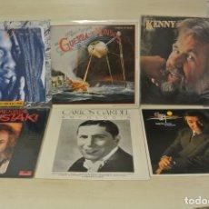 Discos de vinilo: LOTE DE SEIS LPS , MOUSTAKI , PAPA WINNIE , ,CARLOS GARDEL , EL FARY , ETC . Lote 179381728