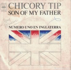 Discos de vinilo: CHICORY TIP - SON OF MY FATHER / PRIDE COMES BEFORE A FALL (SINGLE ESPAÑOL, CBS 1972). Lote 179382551